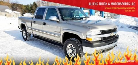 2002 Chevrolet Silverado 2500HD LT for sale at ALLENS TRUCK & MOTORSPORTS LLC in Buckley MI
