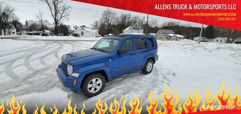 2010 Jeep Liberty Sport for sale at ALLENS TRUCK & MOTORSPORTS LLC in Buckley MI