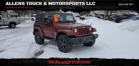 2007 Jeep Wrangler Sahara for sale at ALLENS TRUCK & MOTORSPORTS LLC in Buckley MI