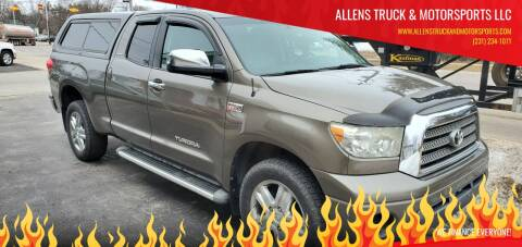2008 Toyota Tundra Limited for sale at ALLENS TRUCK & MOTORSPORTS LLC in Buckley MI