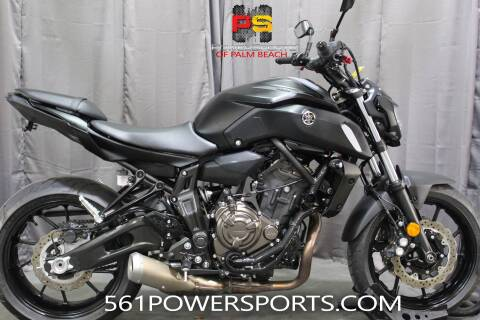 2019 Yamaha MT-07 for sale at Powersports of Palm Beach in South Lee FL