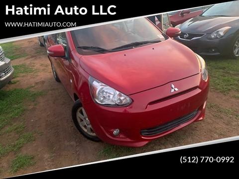 2015 Mitsubishi Mirage for sale at Hatimi Auto LLC in Buda TX