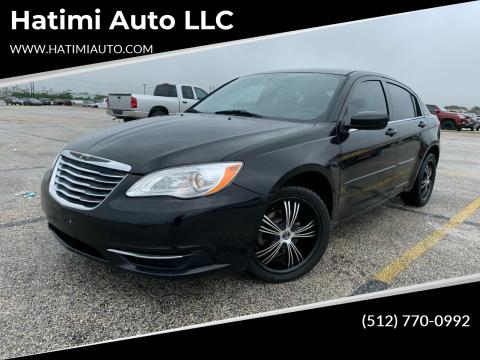 2012 Chrysler 200 for sale at Hatimi Auto LLC in Buda TX