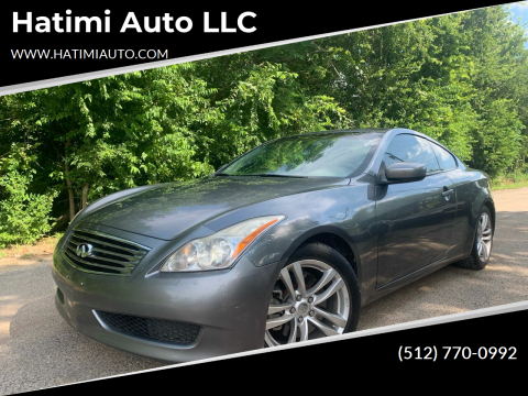 2010 Infiniti G37 Coupe for sale at Hatimi Auto LLC in Buda TX