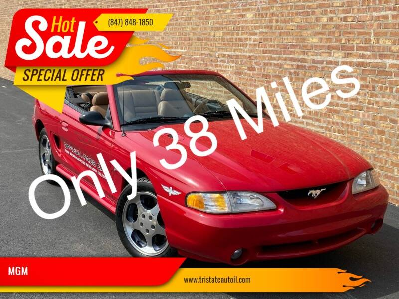 1994 Ford Mustang SVT Cobra for sale at MGM in Addison IL