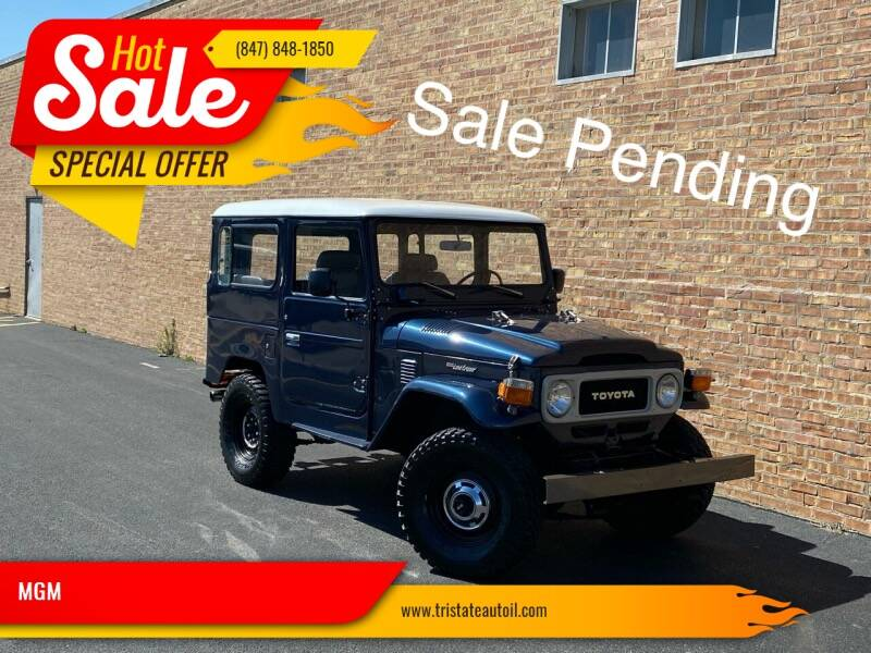 1982 Toyota Land Cruiser for sale at MGM in Addison IL