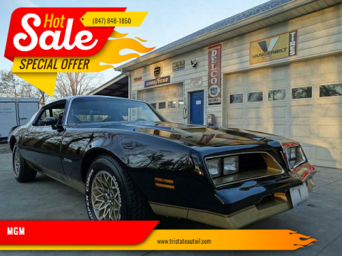 1978 Pontiac Firebird for sale at MGM in Addison IL