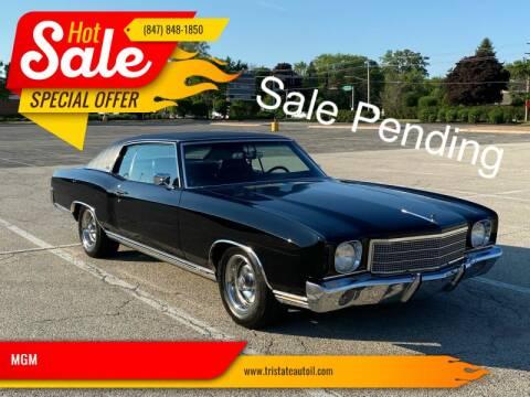 1970 Chevrolet Monte Carlo for sale at MGM in Addison IL