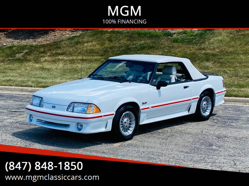 1989 Ford Mustang for sale at MGM in Addison IL