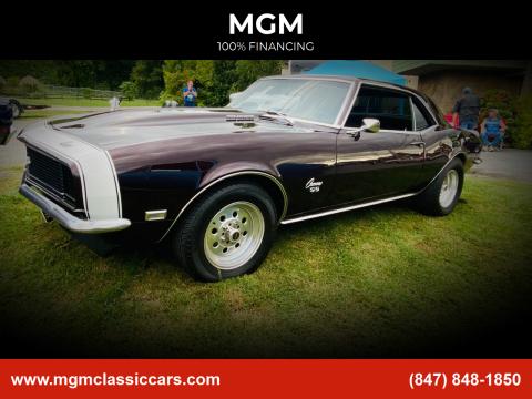 1968 Chevrolet Camaro for sale at MGM in Addison IL