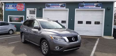 2016 Nissan Pathfinder for sale at Bridge Auto Group Corp in Salem MA