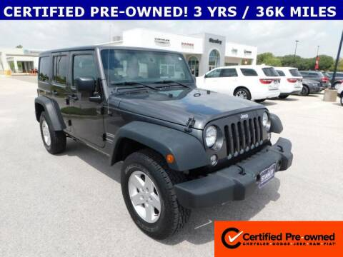 2018 Jeep Wrangler JK Unlimited for sale at Stanley Chrysler Dodge Jeep Ram Gatesville in Gatesville TX