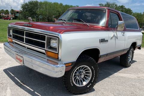 1987 Dodge Ramcharger for sale at PennSpeed in New Smyrna Beach FL