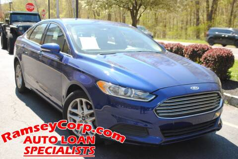 2016 Ford Fusion for sale at Ramsey Corp. in West Milford NJ