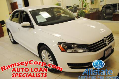 2014 Volkswagen Passat for sale at Ramsey Corp. in West Milford NJ