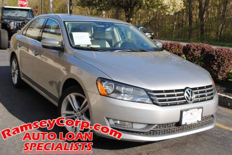 2013 Volkswagen Passat for sale at Ramsey Corp. in West Milford NJ