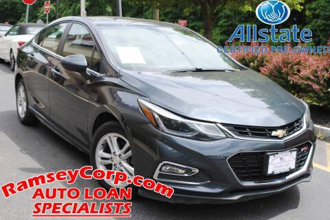2017 Chevrolet Cruze for sale at Ramsey Corp. in West Milford NJ