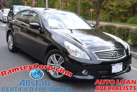 2011 Infiniti G25 Sedan for sale at Ramsey Corp. in West Milford NJ