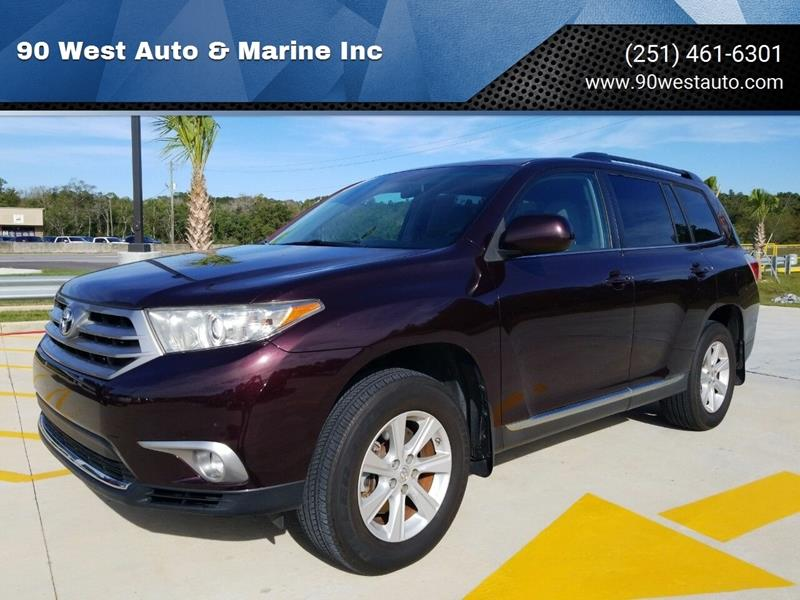 2013 Toyota Highlander for sale at 90 West Auto & Marine Inc in Mobile AL