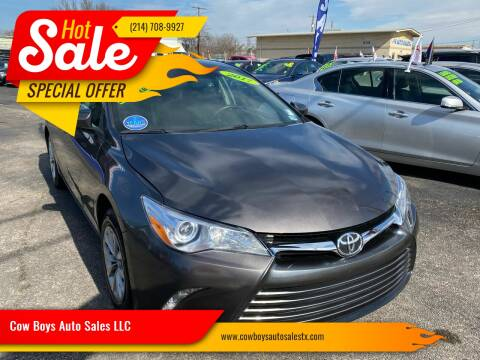 2017 Toyota Camry for sale at Cow Boys Auto Sales LLC in Garland TX