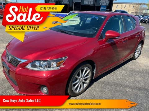 2013 Lexus CT 200h for sale at Cow Boys Auto Sales LLC in Garland TX