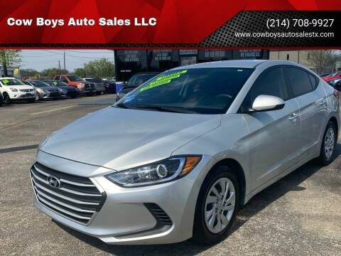 2017 Hyundai Elantra for sale at Cow Boys Auto Sales LLC in Garland TX