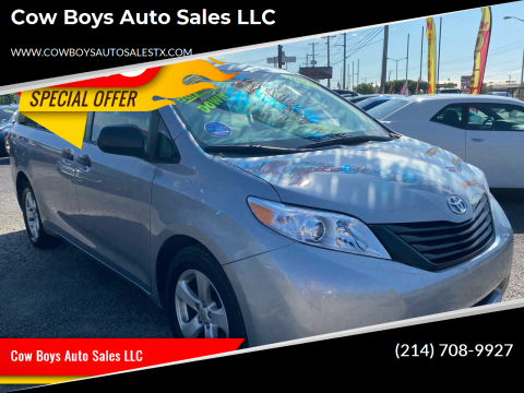 2017 Toyota Sienna for sale at Cow Boys Auto Sales LLC in Garland TX