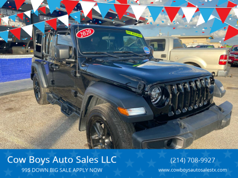 2020 Jeep Wrangler Unlimited for sale at Cow Boys Auto Sales LLC in Garland TX