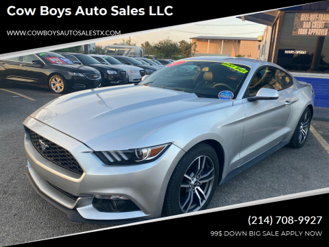 2017 Ford Mustang for sale at Cow Boys Auto Sales LLC in Garland TX