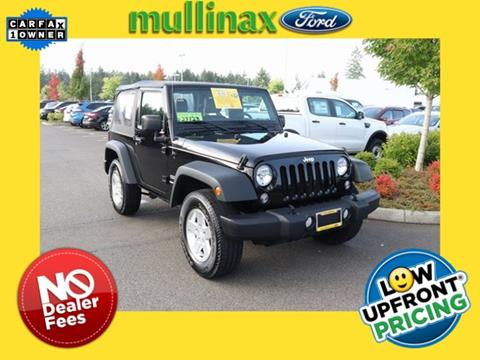 2015 Jeep Wrangler for sale in Olympia, WA