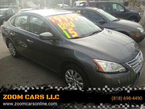 2015 Nissan Sentra FE+ S for sale at ZOOM CARS LLC in Sylmar CA