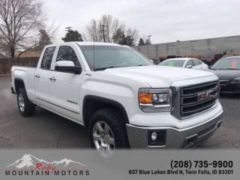 2015 GMC Sierra 1500 SLT for sale at Ruby Mountain Motors Twin Falls in Twin Falls ID