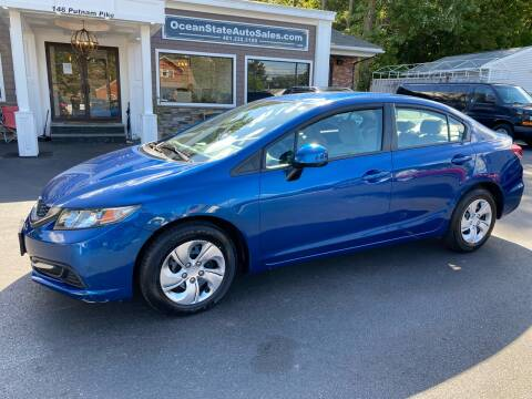 2013 Honda Civic for sale at Ocean State Auto Sales in Johnston RI