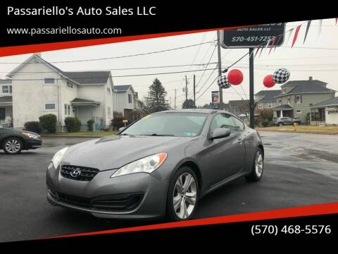 2011 Hyundai Genesis Coupe 2.0T for sale at Passariello's Auto Sales LLC in Old Forge PA