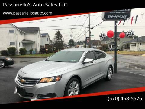 2016 Chevrolet Impala LT for sale at Passariello's Auto Sales LLC in Old Forge PA