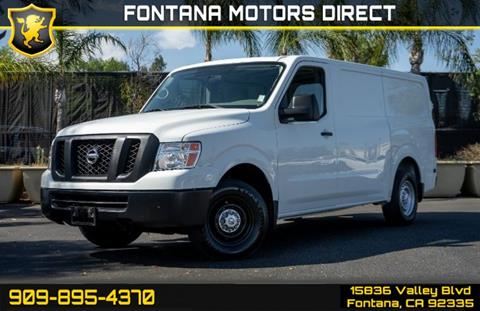 2016 Nissan NV Cargo for sale in Fontana, CA
