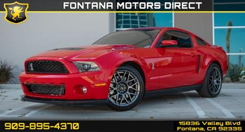 2011 Ford Shelby GT500 for sale in Fontana, CA