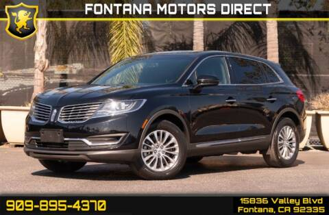 2017 Lincoln MKX Select for sale at FONTANA MOTORS DIRECT in Fontana CA