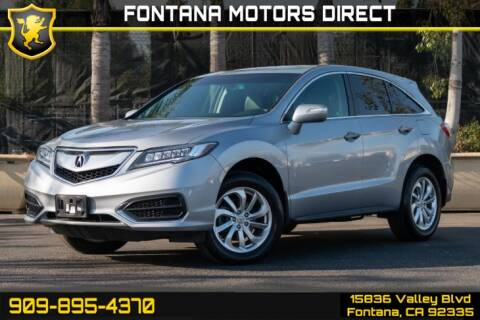 2017 Acura RDX for sale at FONTANA MOTORS DIRECT in Fontana CA