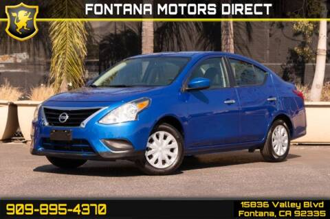 2017 Nissan Versa for sale at FONTANA MOTORS DIRECT in Fontana CA