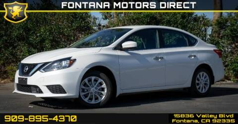 2019 Nissan Sentra for sale at FONTANA MOTORS DIRECT in Fontana CA
