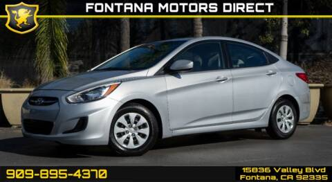 2016 Hyundai Accent for sale at FONTANA MOTORS DIRECT in Fontana CA
