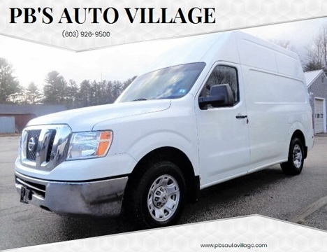 2013 Nissan NV Cargo for sale at PB'S Auto Village in Hampton Falls NH