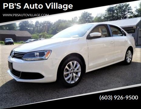 2013 Volkswagen Jetta for sale at PB'S Auto Village in Hampton Falls NH