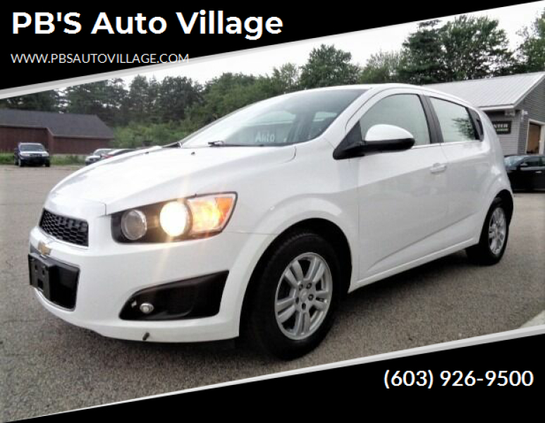 2016 Chevrolet Sonic for sale at PB'S Auto Village in Hampton Falls NH