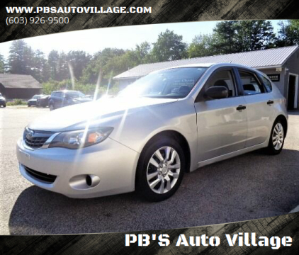 2008 Subaru Impreza for sale at PB'S Auto Village in Hampton Falls NH