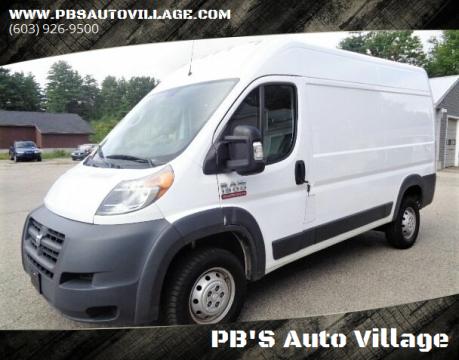 2018 RAM ProMaster Cargo for sale at PB'S Auto Village in Hampton Falls NH