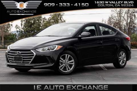 2018 Hyundai Elantra for sale at IE AUTO EXCHANGE in Colton CA