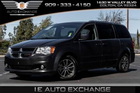 2017 Dodge Grand Caravan SXT for sale at IE AUTO EXCHANGE in Colton CA