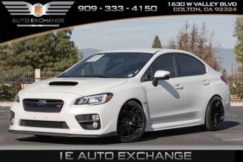 2016 Subaru WRX STI for sale at IE AUTO EXCHANGE in Colton CA